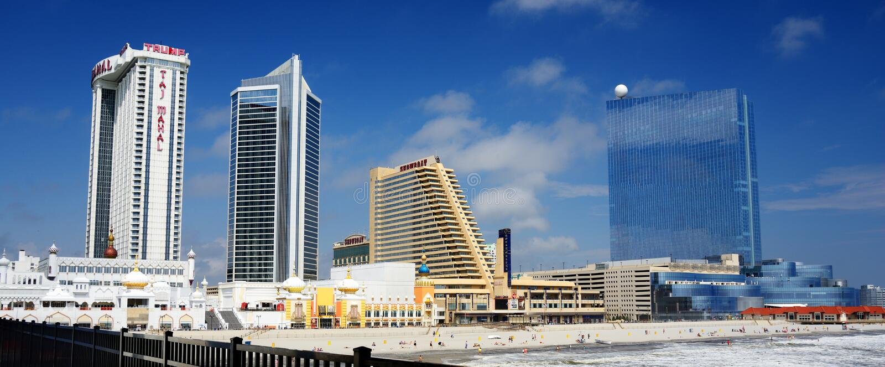 Het Panorama van Atlantic City stock foto