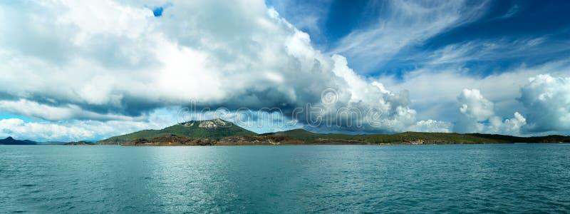 Het Panorama van Australië van Pinkstereneilanden stock foto's