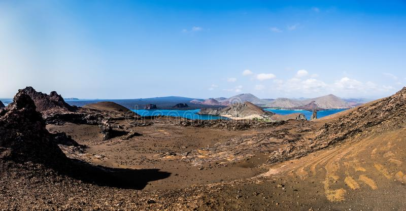 Het panorama van het Bartolomeeiland royalty-vrije stock foto's