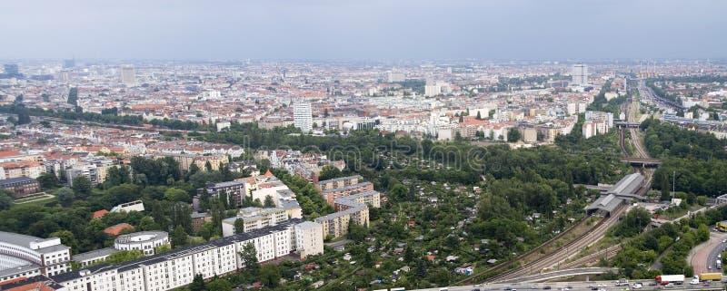 Het panorama van Berlijn stock fotografie