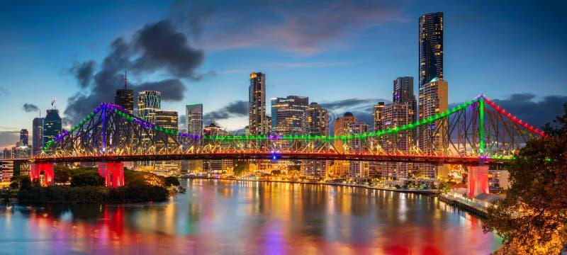 Het panorama van Brisbane stock afbeeldingen