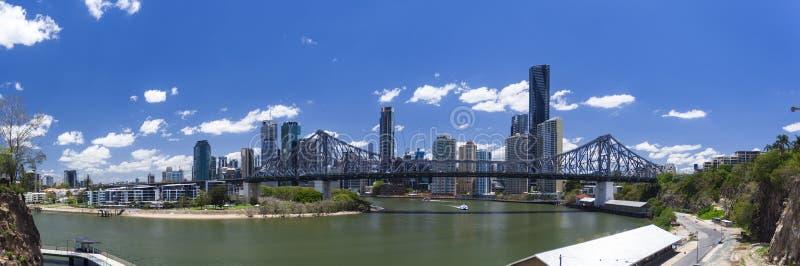 Het panorama van Brisbane royalty-vrije stock afbeeldingen