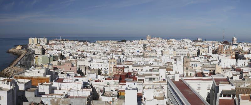 Het panorama van Cadiz royalty-vrije stock afbeeldingen