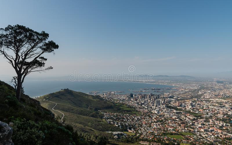 Het Panorama van Cape Town stock foto