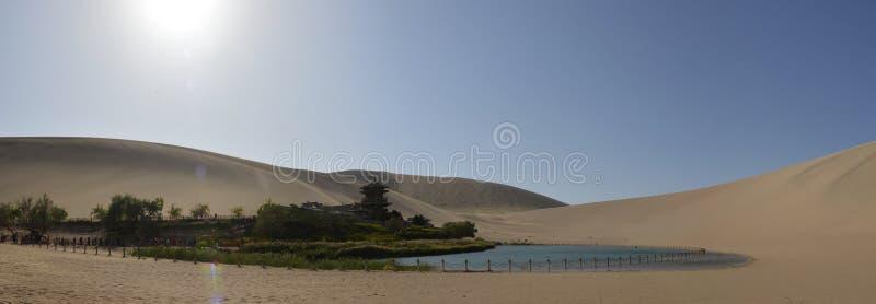 Het panorama van het Crescent Lake royalty-vrije stock afbeelding