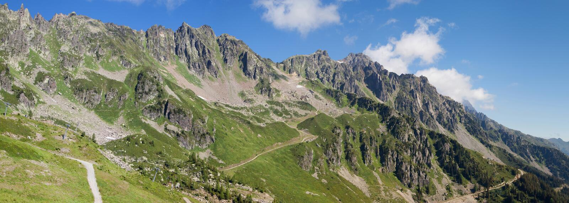 Het panorama van de Aiguillesrouge stock foto