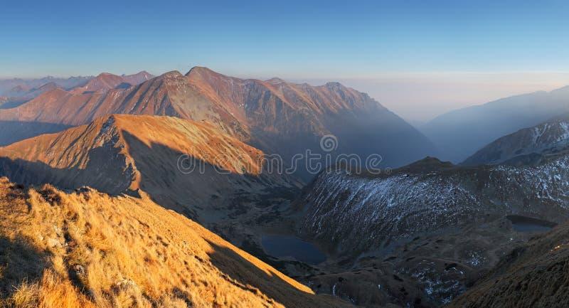 Het panorama van de berg - het Hoge Westen Tatras, Slowakije royalty-vrije stock fotografie