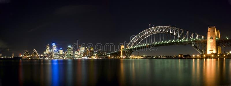 Het Panorama van de Brug van de Haven van Sydney royalty-vrije stock afbeelding