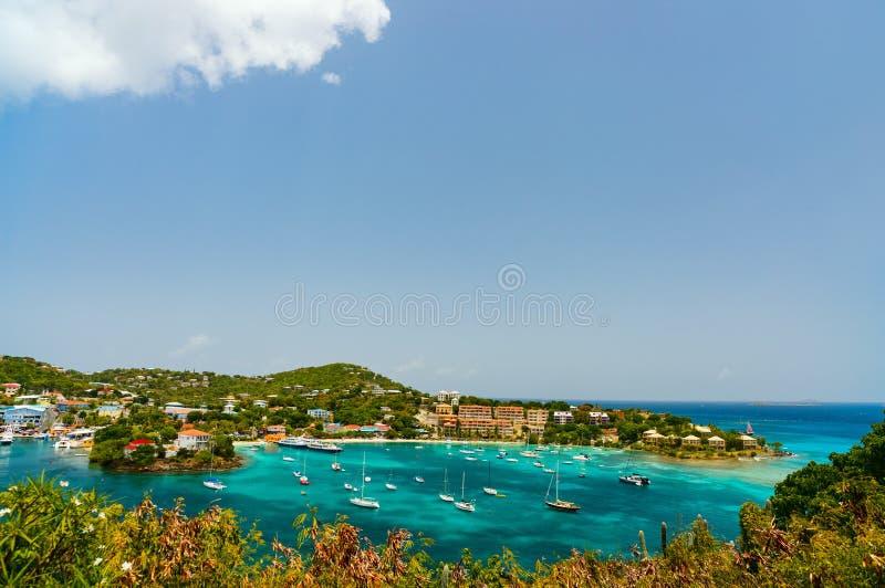 Het panorama van de Cruzbaai stock foto's
