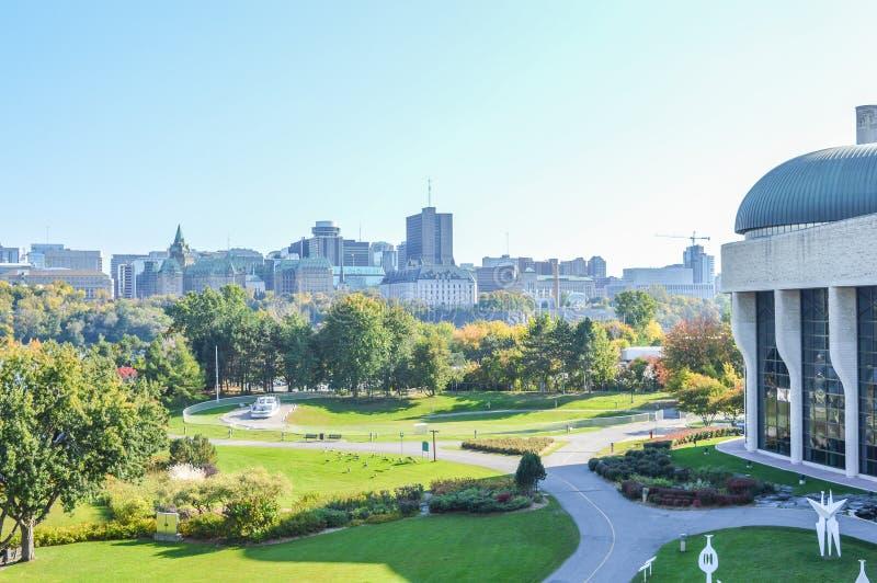 Het panorama van de de stadshorizon van Ottawa royalty-vrije stock afbeeldingen