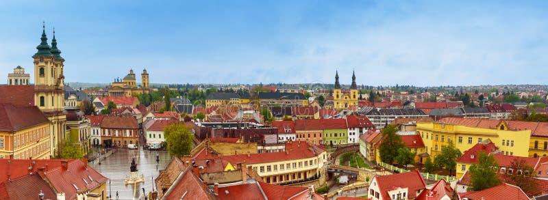 Het panorama van de Egerstad royalty-vrije stock fotografie