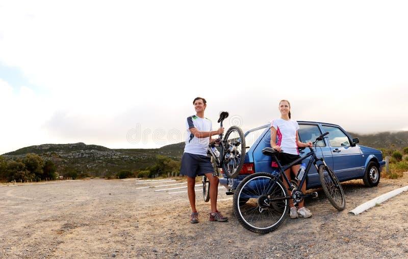 Het panorama van de fiets royalty-vrije stock afbeelding