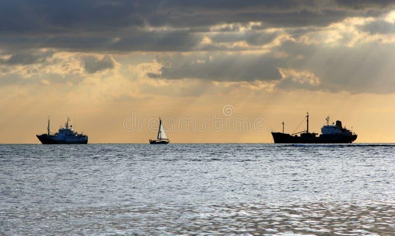 Het panorama van de haven stock foto