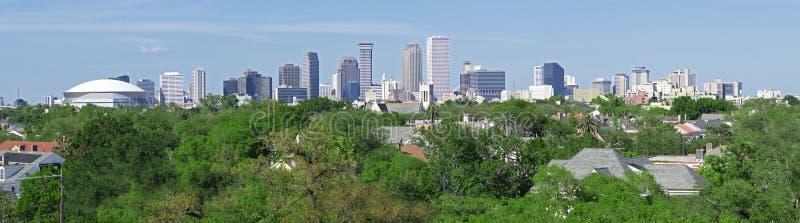 Het Panorama van de Horizon van New Orleans stock fotografie