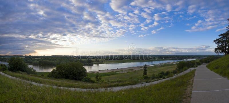 Het Panorama van de Loire stock afbeelding