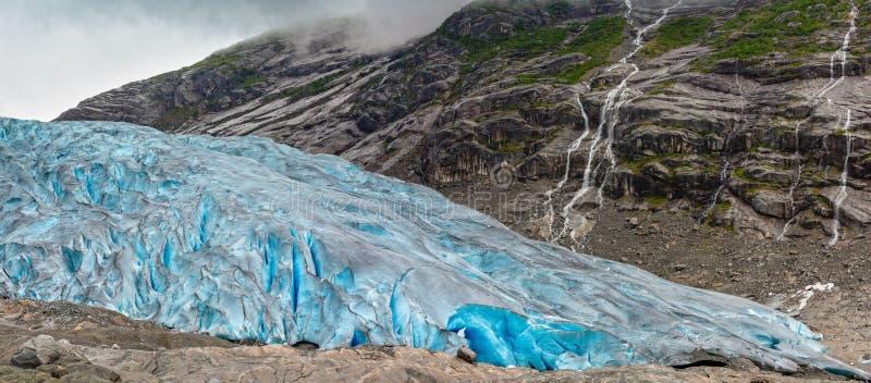 Het panorama van de Nigardsbreengletsjer, Noorwegen royalty-vrije stock foto's