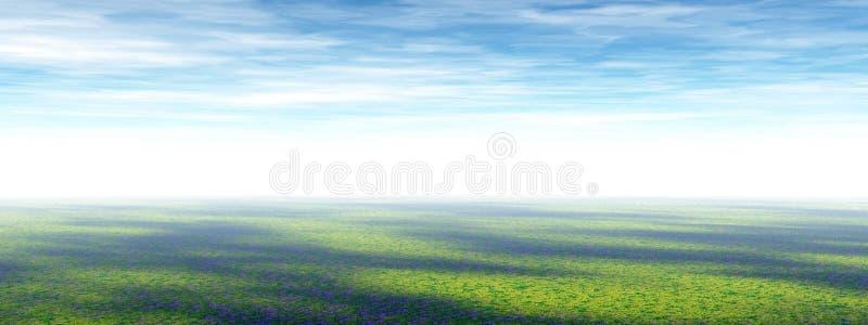 Het panorama van de prairie vector illustratie