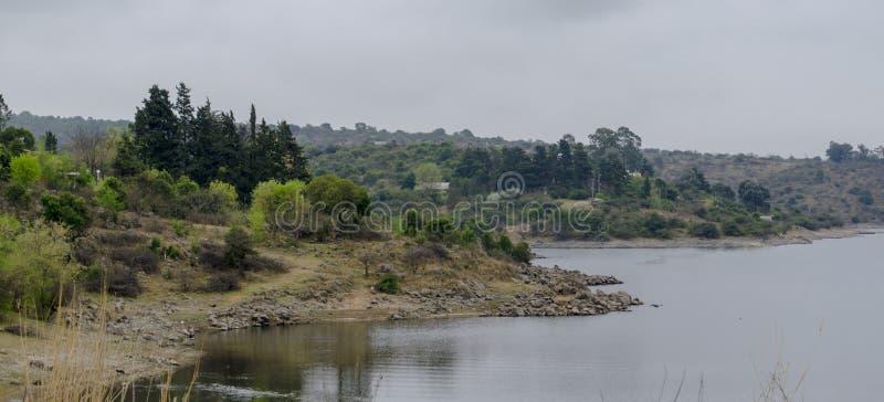Het panorama van de rivier royalty-vrije stock foto