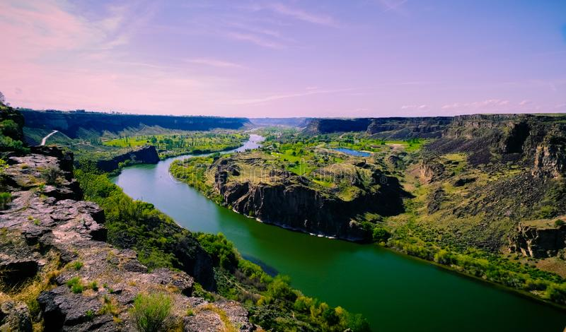 Het Panorama van de slangrivier stock fotografie