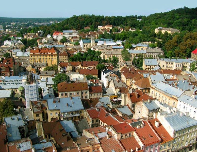 Het panorama van de stad stock fotografie