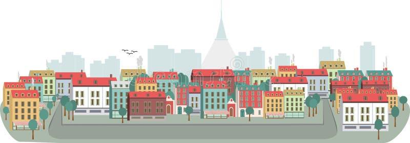 Het panorama van de stad stock foto