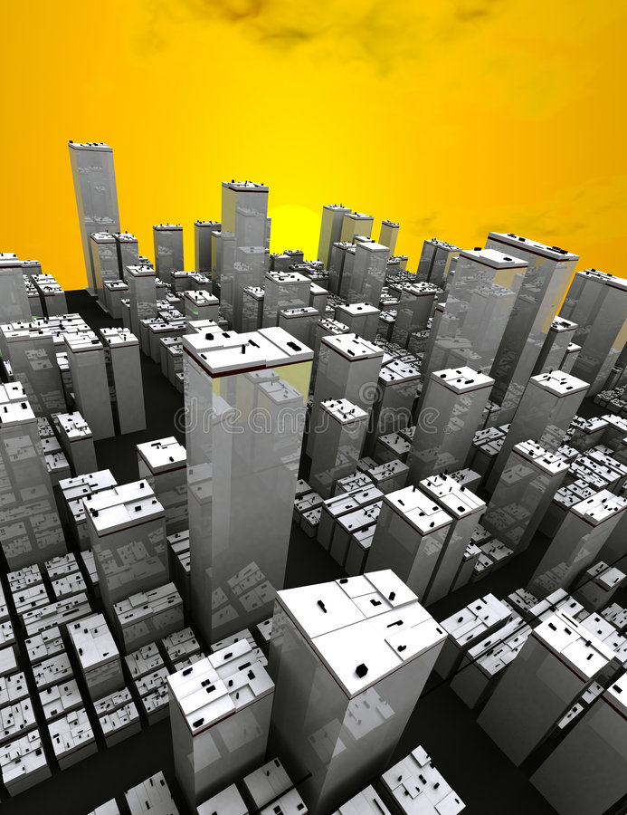 Het panorama van de stad stock illustratie