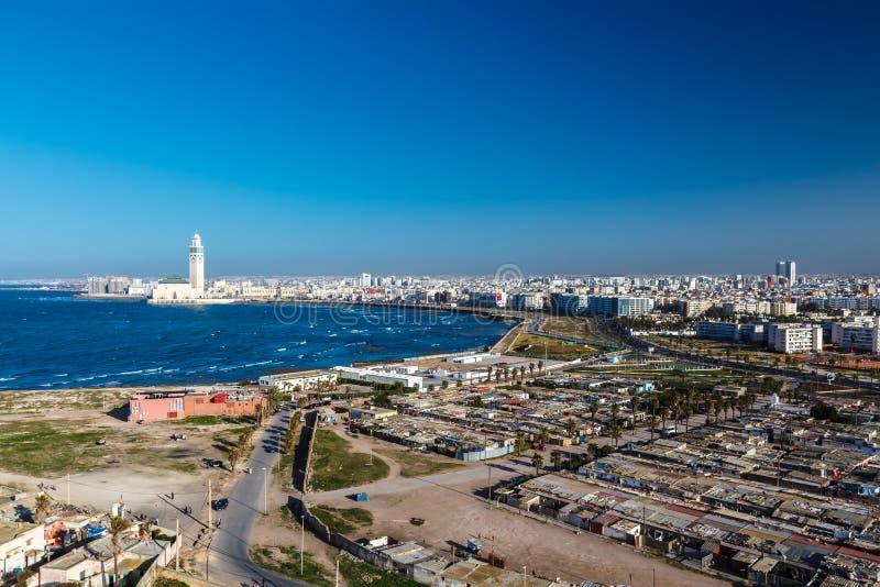 Het panorama van de stad casablanca royalty-vrije stock afbeelding