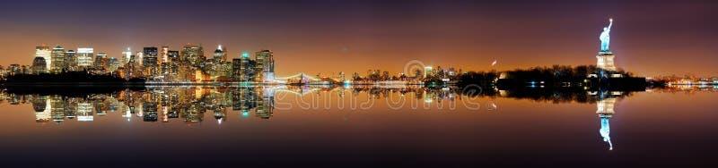 Het Panorama van de Stad van Manhattan, New York royalty-vrije stock foto