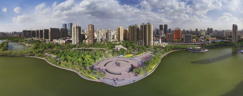 Het panorama van de Stad van Tai-Yuan royalty-vrije stock afbeeldingen