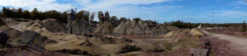 Het Panorama van de steengroeve stock foto's