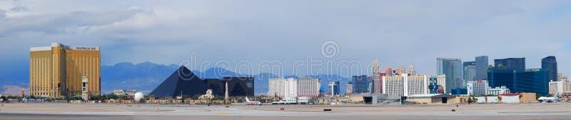 Het Panorama van de Strook van Vegas van Las royalty-vrije stock foto