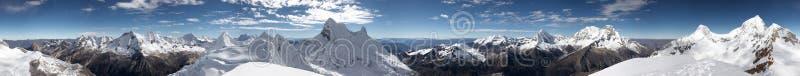 Het panorama van de top stock afbeeldingen