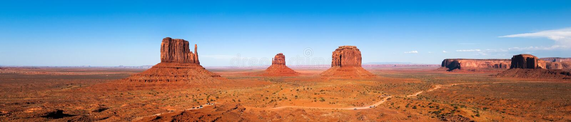 Het panorama van de Vallei van het monument royalty-vrije stock foto's