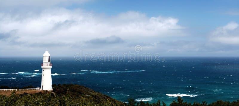 Het Panorama van de vuurtoren stock afbeeldingen