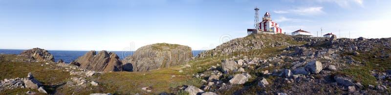 Het Panorama van de Vuurtoren van Bonavista van de kaap royalty-vrije stock foto