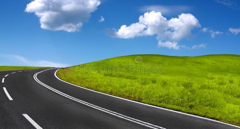 Het Panorama van de Weg van de berg royalty-vrije stock afbeeldingen