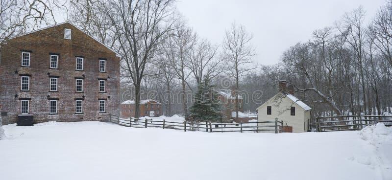 Het Panorama van de Winter van Allaire royalty-vrije stock foto's