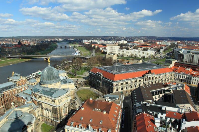 Het panorama van Dresden stock foto's