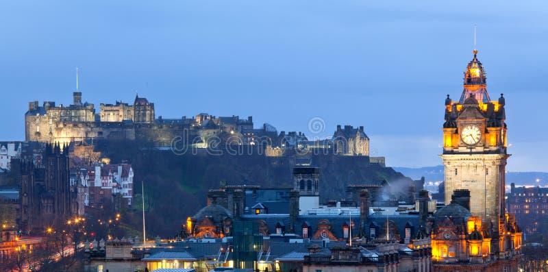 Het Panorama van Edinburgh stock afbeeldingen