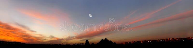 Het Panorama van Egypte stock fotografie