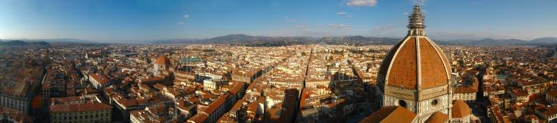 Het panorama van Florence (Italië) royalty-vrije stock afbeeldingen