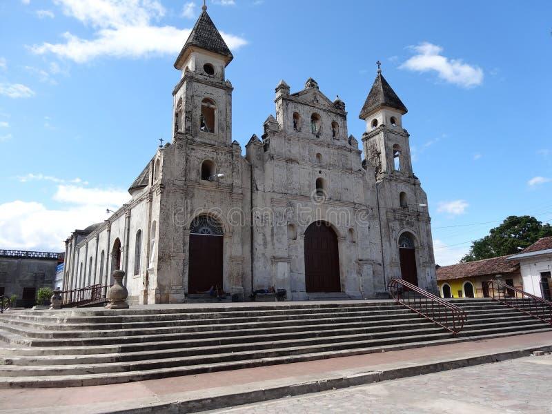 Het panorama van Granada Nicaragua november van kerk guadalupe stock foto's