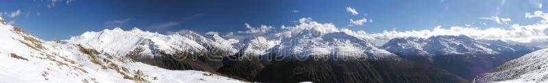 Het Panorama van Grimselpass royalty-vrije stock foto