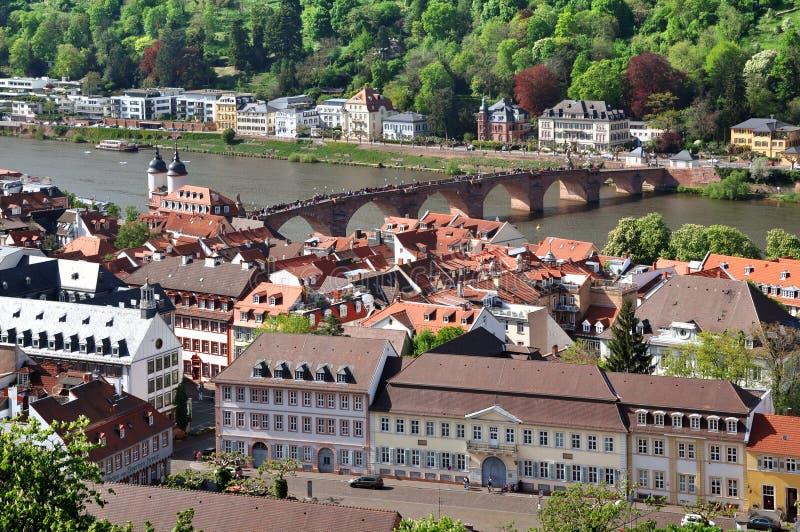 Het Panorama van Heidelberg stock afbeelding