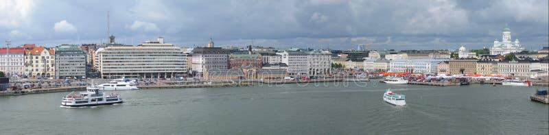 Het panorama van Helsinki stock foto's