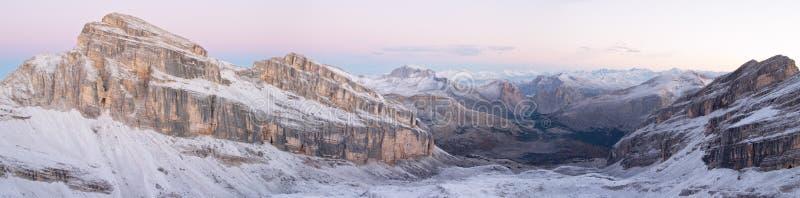 Het panorama van het dolomiet royalty-vrije stock fotografie