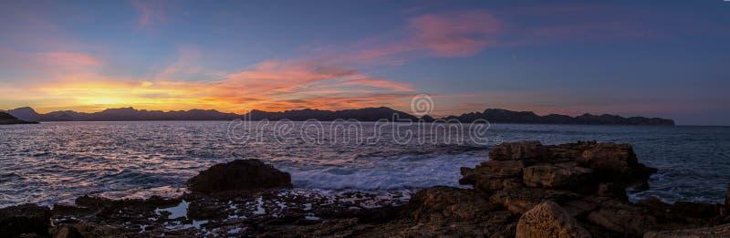 Het panorama van het Formentorschiereiland royalty-vrije stock foto