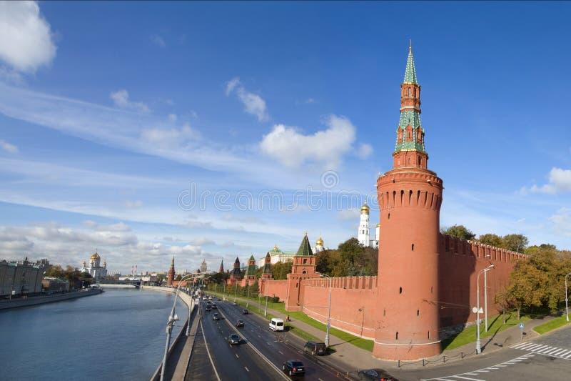 Het panorama van het Kremlin, Moskou stock foto