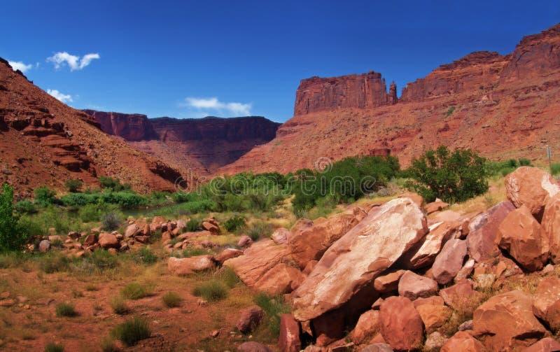 Het panorama van het landschap stock afbeelding
