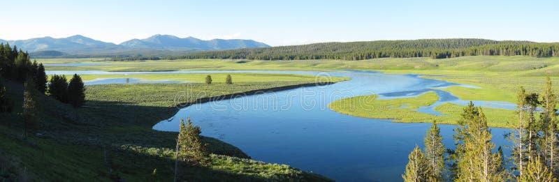 Het Panorama van het landschap van Nationaal Park Yellowstone royalty-vrije stock afbeeldingen